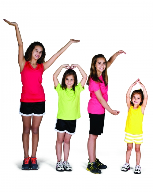children spelling YMCA with their arms