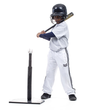 boy ready to swing at a tball